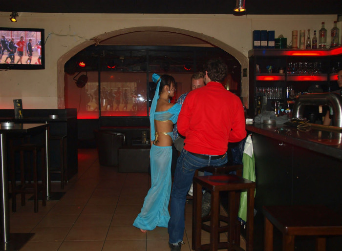 Sexy mongolian is undressing at public bar — Asian Sexiest