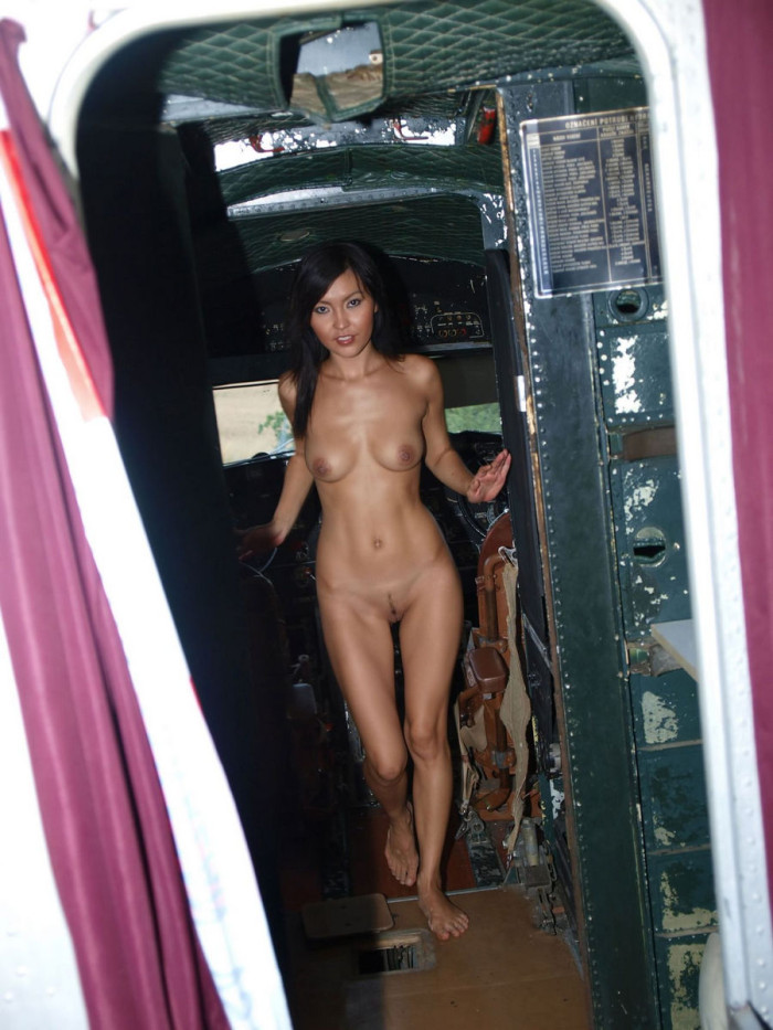 from Denver girls naked on plane