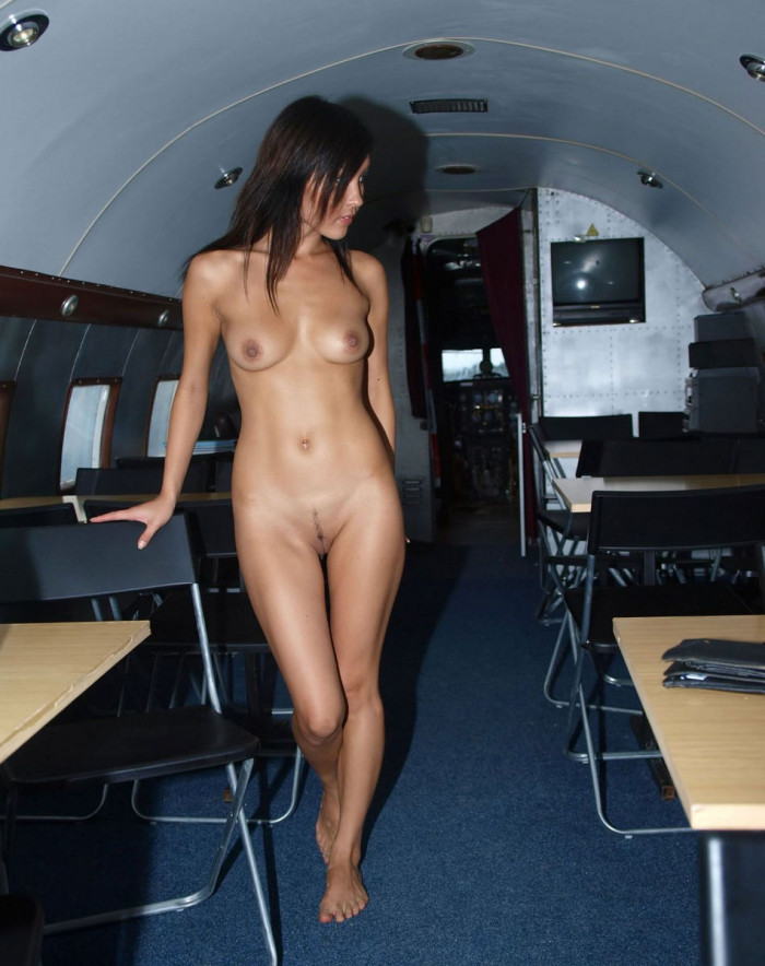 Airline hostess with nice tits - 2 part 3