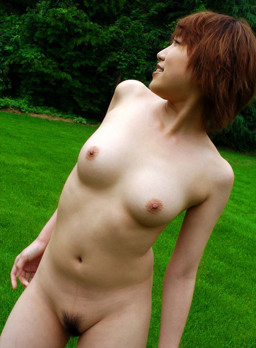 asian hair Nude girl short