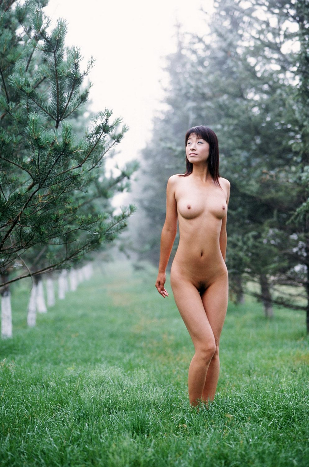 Woman classic outdoor asian