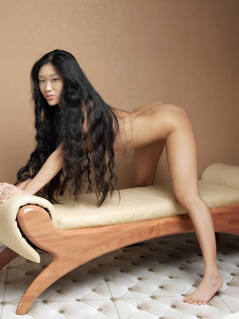 Nude chinese girl long hair