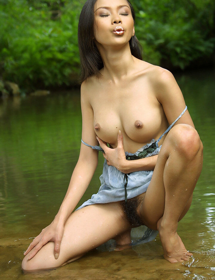 Nude asian girls with hairy bush