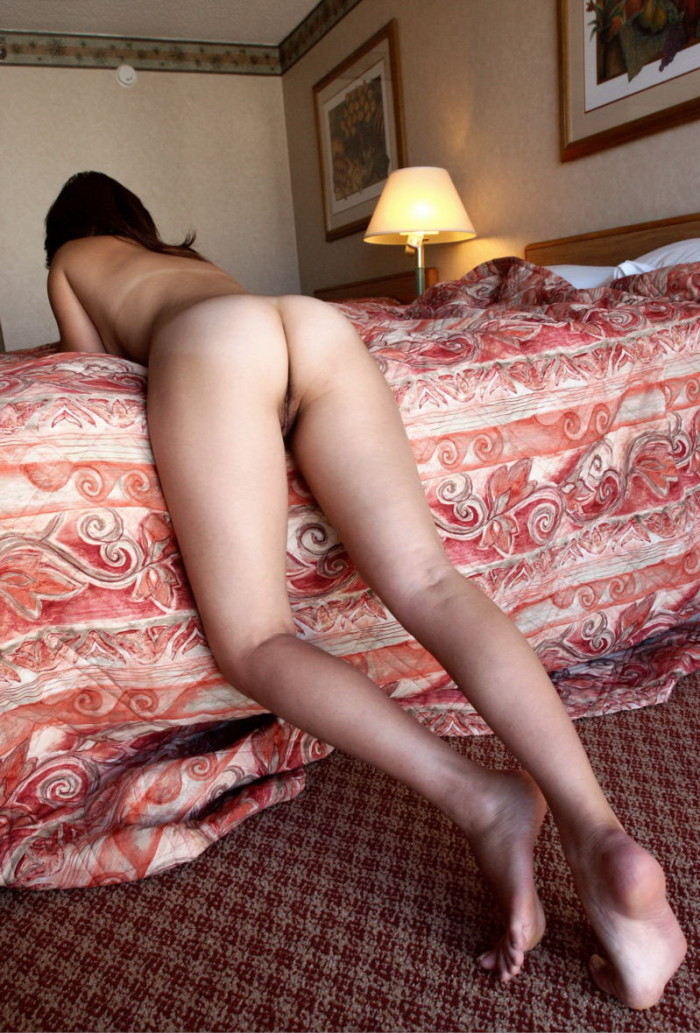 For Nude women hotel bed really