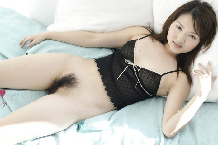 Sweet Asian With Small Tits And Hairy Pussy At Her Bed 12 Photos
