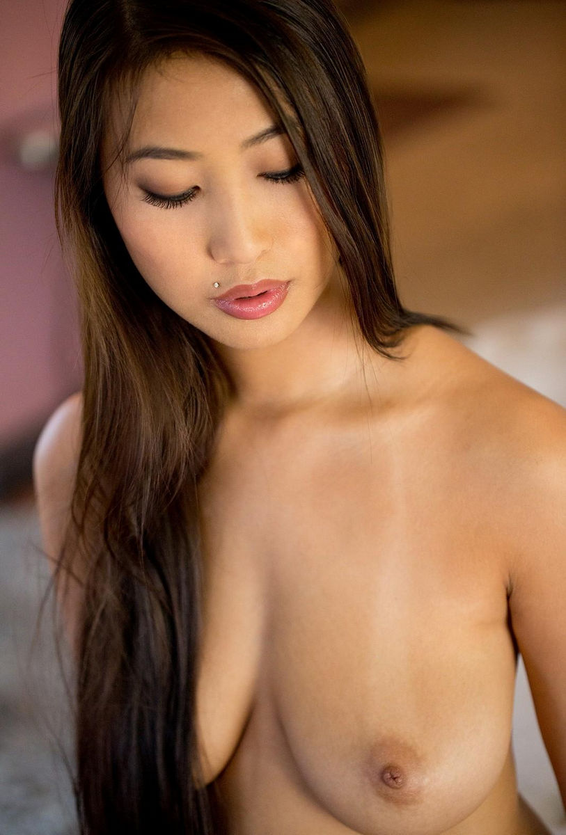 Hot busty asian gives a sloppy blowjob on a big dick 9