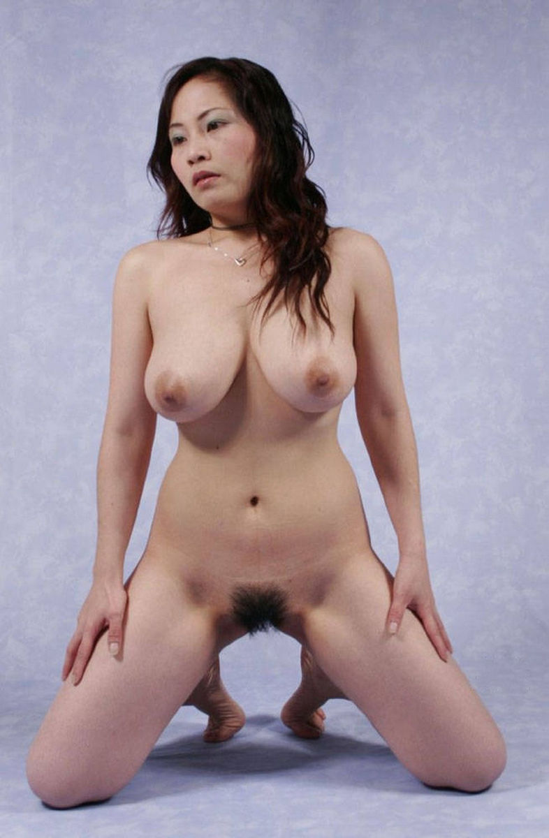 Asian hairy pussy and big tits