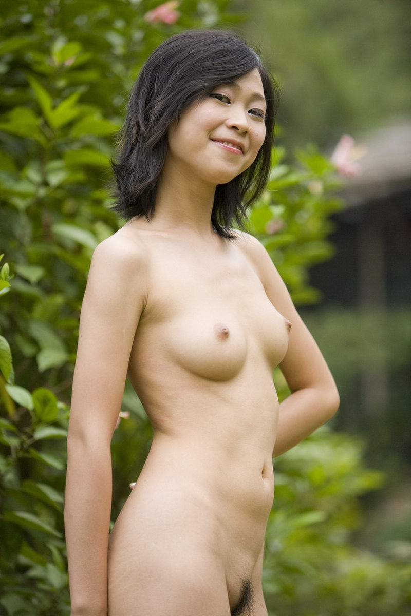 nice outdoor asian nude hairy pussy